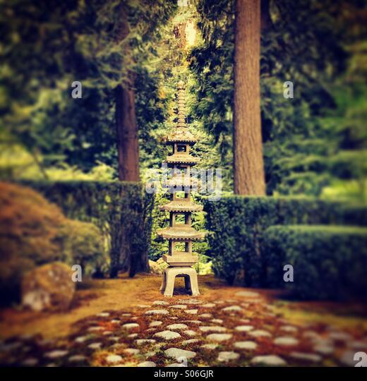 Japanese garden - Stock Image
