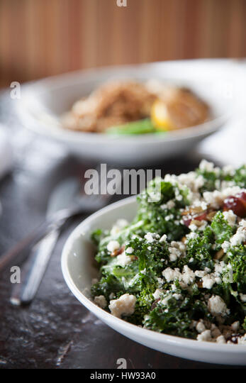 kale salad - Stock Image