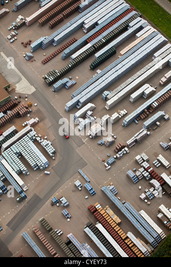 The Netherlands, Lobith, Stone factory. Aerial. - Stock-Bilder