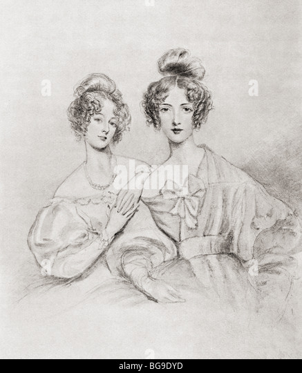 The Misses Catherine and Mary Glynne. - Stock Image