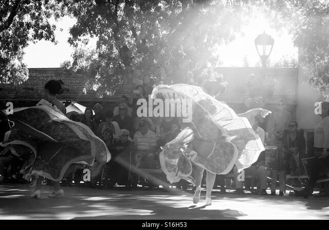 Dance towards the light - Stock Image