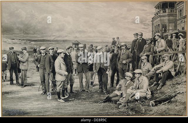 St. Andrews: Surviving Open Championship, 1905. Artist: Brown, James Michael (1843-1947) - Stock Image