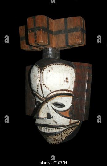 Okokwo Mask, Igbo, Obologo, Nigeria - Stock Image