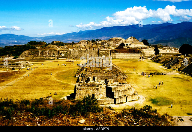 Mexico Oaxaca Monte Alban ruins archaeology - Stock Image