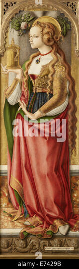 Mary Magdalene - by Carlo Crivelli, 1480 - Stock Image