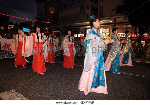 Japan, Tohoku Region, Fukushima Prefecture, Koriyama, Koriyama Uneme Matsuri. - Stock Image