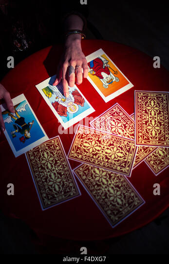 Fortune Telling Cards Stock Photos & Fortune Telling Cards