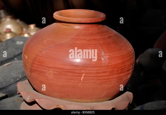 An earthen pot - Stock Image