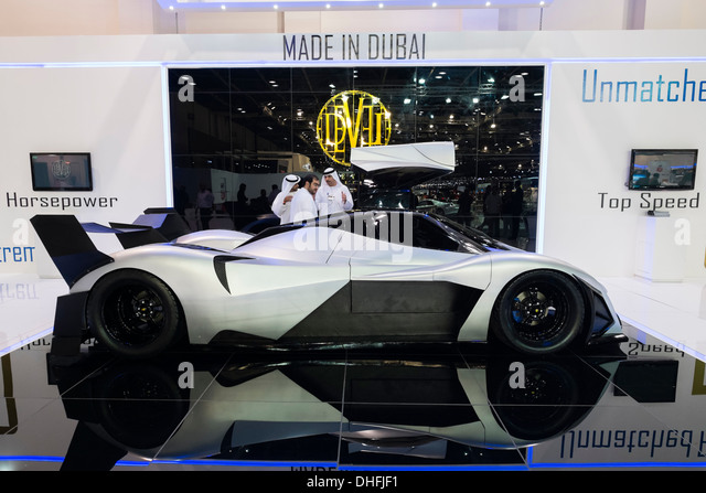 Devel prototype supercar at the Dubai Motor Show 2013 United Arab Emirates - Stock Image