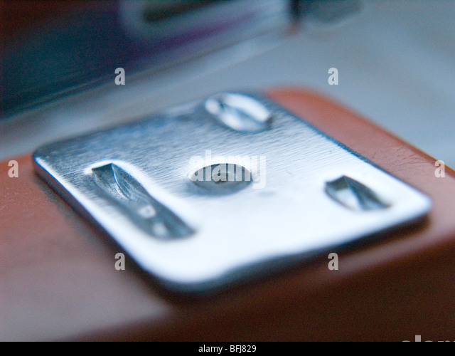 Close up of a metal stapler. - Stock-Bilder