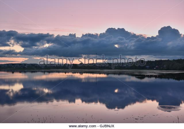 Tide of the river Yaransk. Picturesque Russian nature. - Stock Image