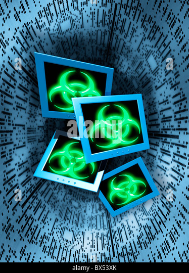 Computer virus, conceptual artwork - Stock Image