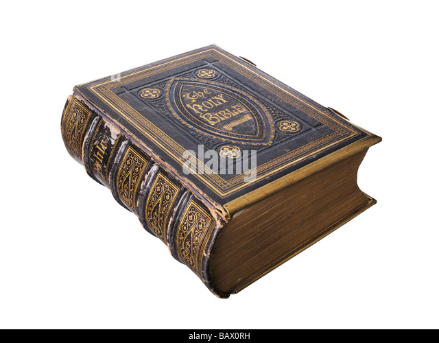 Old Illustrated Holy Bible - Stock Image