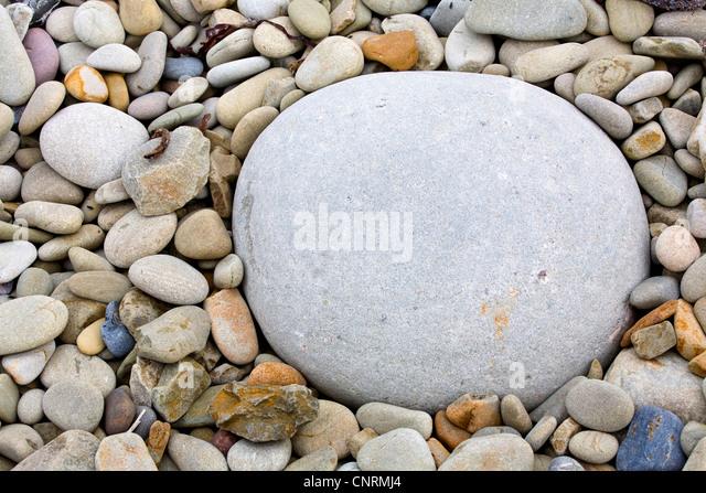 pebbles in differnt colours, United Kingdom, Scotland, Shetland Islands, Fair Isle - Stock Image