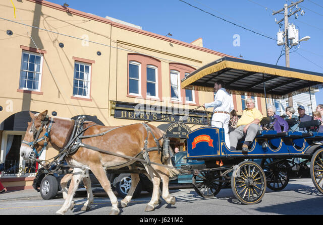 Charleston South Carolina National Historic Landmark Historic District preservation North Market Street City Market - Stock Image