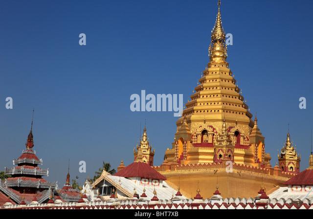 Myanmar, Burma, Nyaungshwe, Yadana Man Aung Pagoda, Shan State, - Stock-Bilder