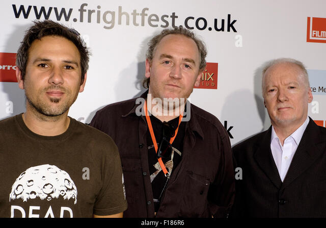 Director Paul Goodwin, Kevin O'Neill, Sean Hogan attends the Frightfest 2015 on 29/08/2015 at The VUE West End, - Stock Image