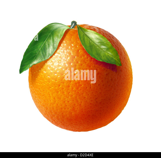 Orange computer artwork - Stock Image