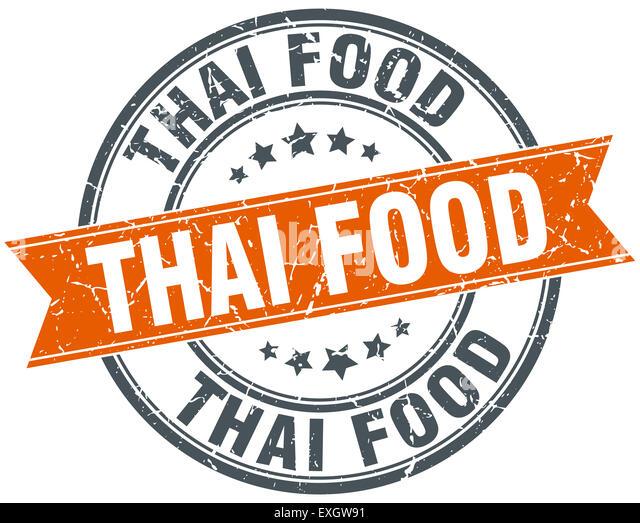 Thai food stamp sign seal stock photos thai food stamp for Antique thai cuisine