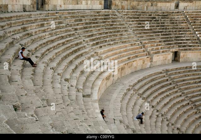 The Roman Theatre, Amman, Jordan. - Stock Image
