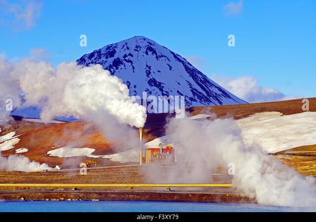 Geothermal energy at lake myvatn - Stock Image