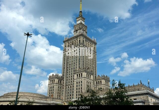 The Palace of Culture and Science in Warsaw, Poland, central/eastern Europe. June 2017. - Stock Image