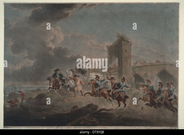 Smugglers attacked, 1795-1798. Artist: Bourgeois, Sir Peter Francis (1756-1811) - Stock Image