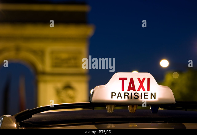 Paris taxi - Stock Image