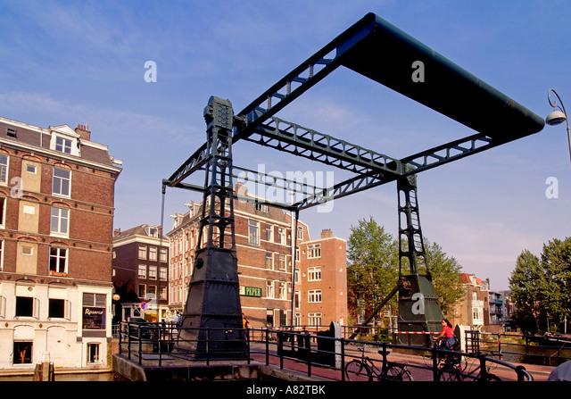 Amsterdam draw bridge - Stock Image