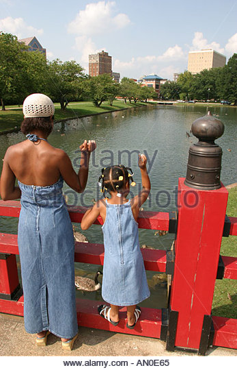 Alabama Huntsville Big Spring Park - Stock Image
