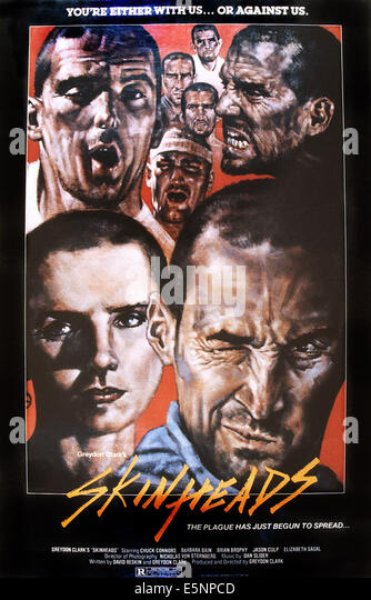 SKINHEADS, US poster art, 1989. ©Amazing Movies/courtesy Everett Collection - Stock Image