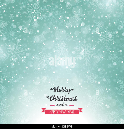 Merry Christmas background with snowflake design - Stock Image