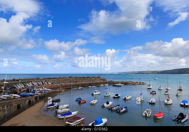 Newquay Harbour West Wales - Stock Image