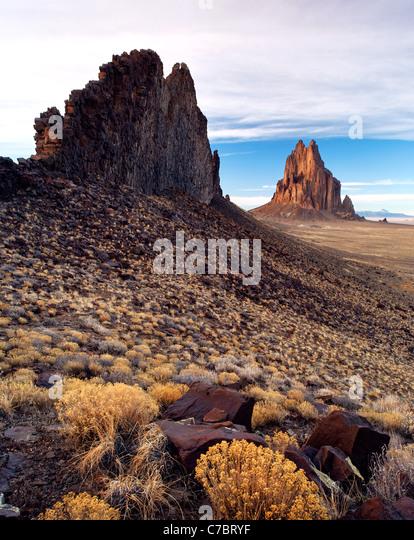 Shiprock Rock, New Mexico, USA - Stock Image