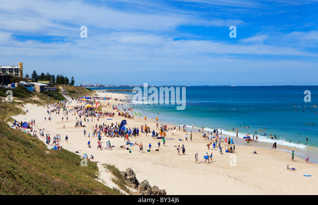 The annual Junior Local Area Surf Life Saving Carnival held at North Cottesloe Beach, Perth, Western Australia - Stock Image