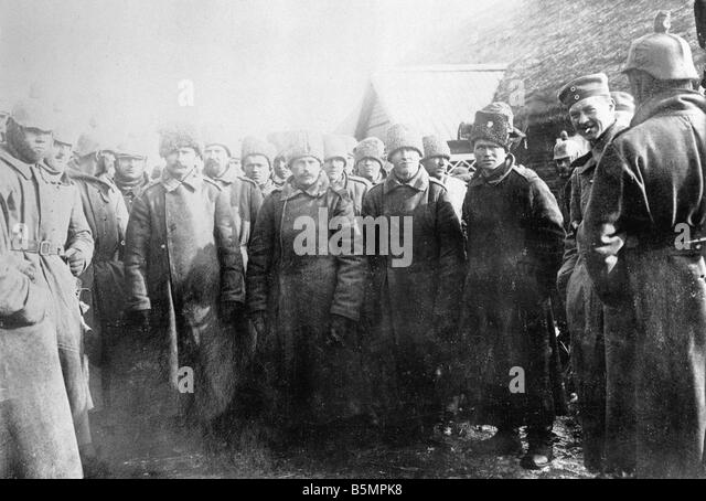 9 1916 3 18 A1 14 Battle of Postawy 1916 Russ prisoners World War 1 Eastern Front Defeat of Russian troops after - Stock-Bilder