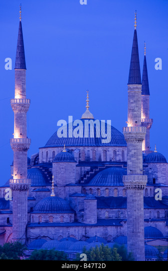 Sultan Ahmed Mosque Blue Mosque Turkey Istanbul - Stock Image