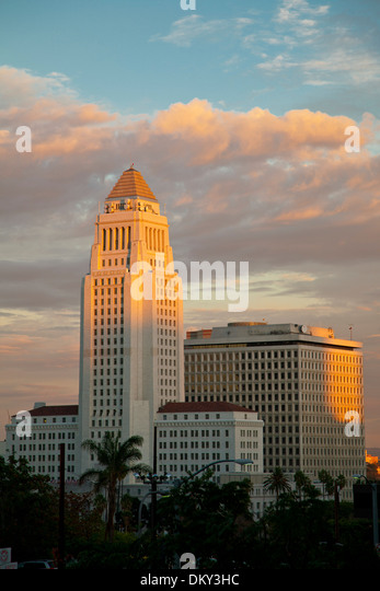 Los Angeles City Hall, California, USA - Stock Image