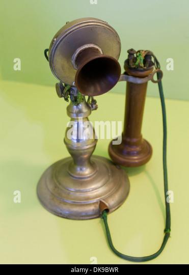 Vintage Potbelly telephone, c. 1895 - Stock Image