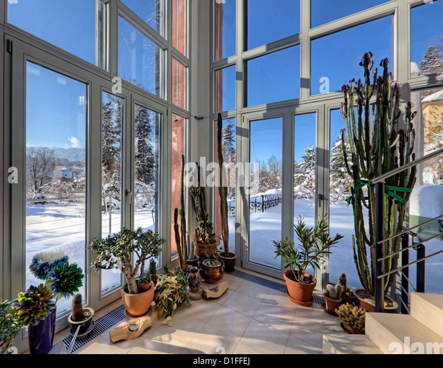 DE - BAVARIA: The Winter-Garden (Contemporary Architecture, Bad Toelz) - Stock Image
