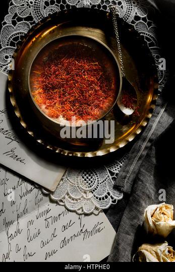 Spanish Saffron - Stock Image