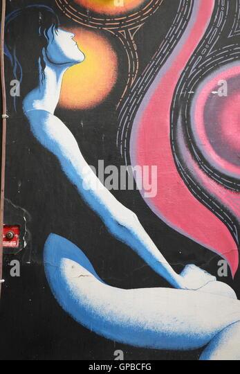 Poetic Street Art in Rome - Stock Image