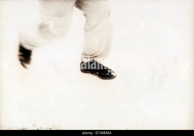 legs and feet running in the snow. MR. ©mak - Stock Image
