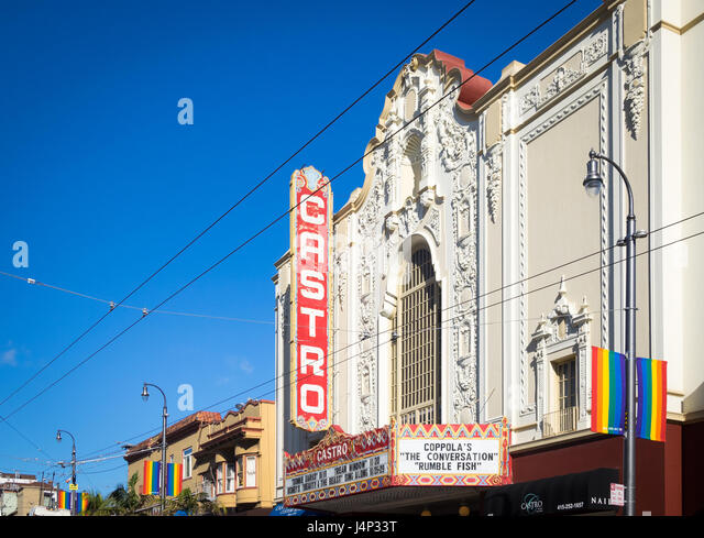 The iconic Castro Theatre, in the Castro District, San Francisco, California. - Stock Image