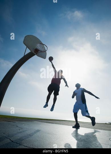 Basketball players - Stock Image