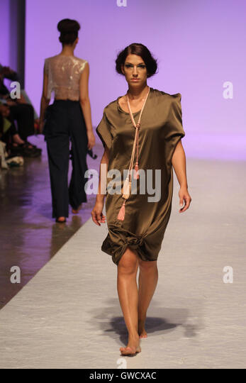 LONDON, UK - September 10: The AAugust  is showcased at the Africa Fashion Week London. © David Mbiyu/Alamy - Stock Image