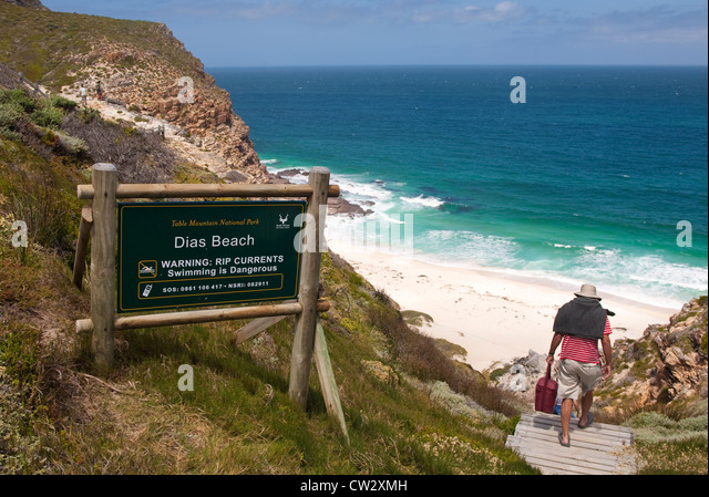 Dias Beach, Diaz Beach, situated  in the Table Mountain National Park, Cape Town, South Africa - Stock Image