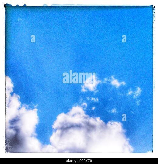 Blue sky - Stock Image