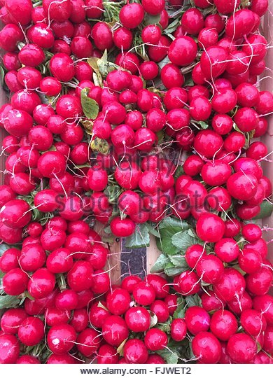 Full Frame Shot Of Beets For Sale At Street Market - Stock Image