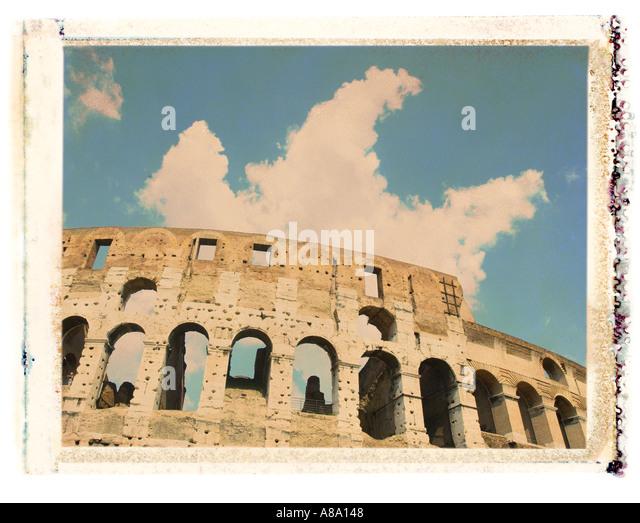 Rome Italy Coliseum - Stock Image